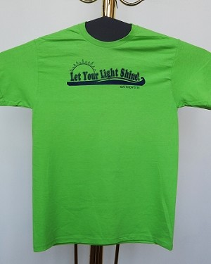 Christian T-Shirt -- Let Your Light Shine!